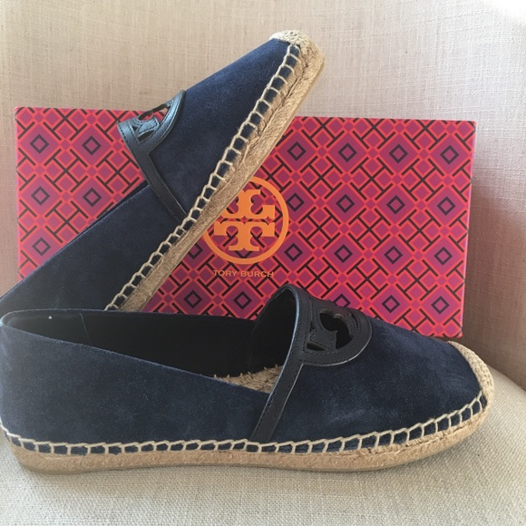 e0ad4a3be70 Tory burch Sidney espadrilles suede perfect navy